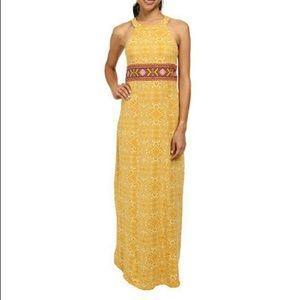 PRANA Skye Boho Maxi Dress Size XL Marigold